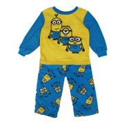 Little Boys Yellow Blue Character Printed Pull On 2 Pc Pajama 2-4T