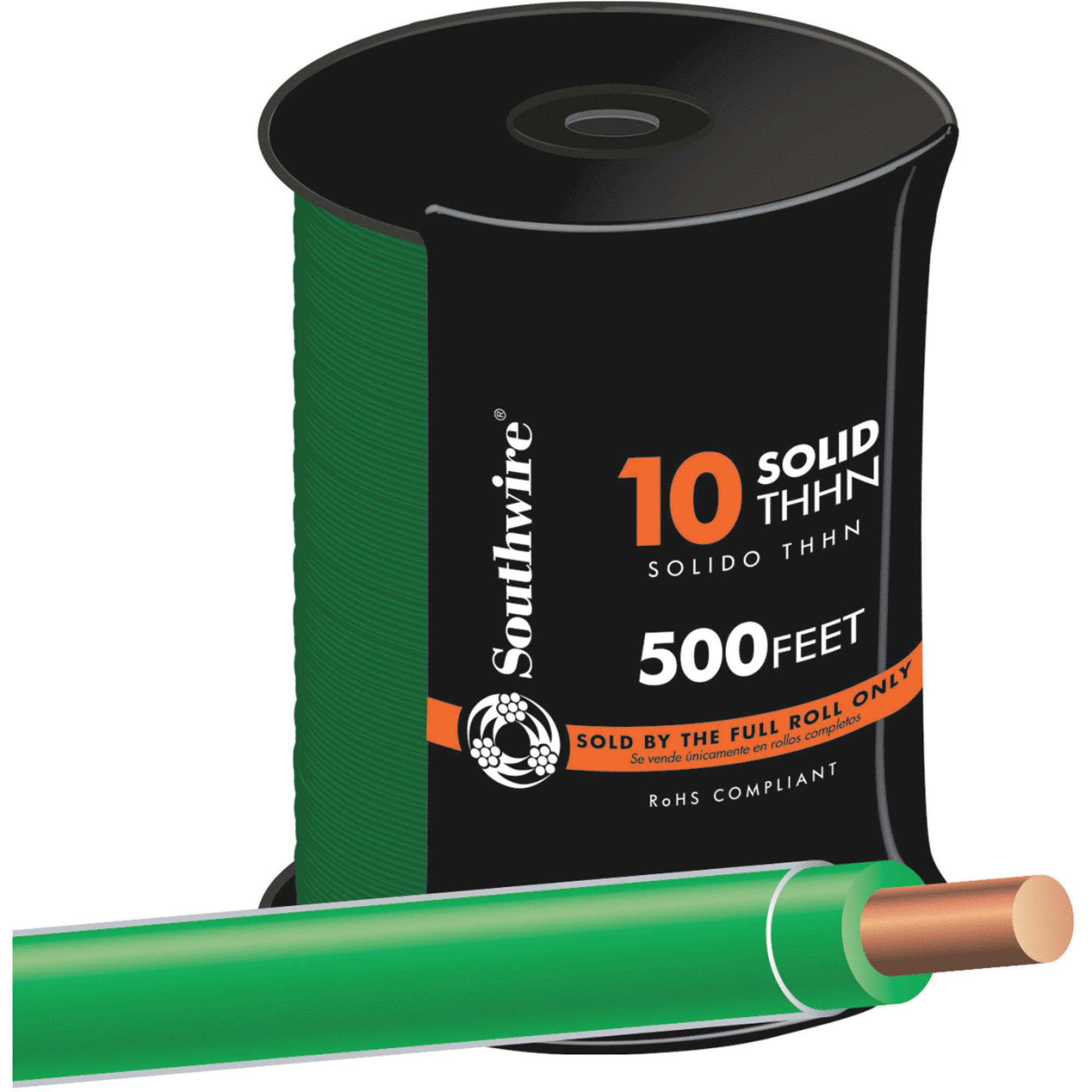 Southwire 500' 10sol Green Thhn Wire 11599857
