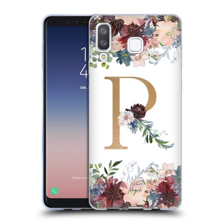 OFFICIAL NATURE MAGICK FLOWERS MONOGRAM FLORAL GOLD 2 SOFT GEL CASE FOR SAMSUNG PHONES 1