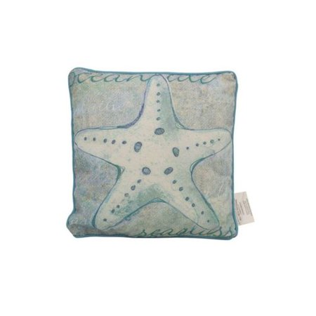 Handcrafted Nautical Decor Starfish Throw Pillow - Nautical Throw