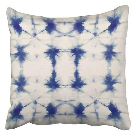 Chinese Batik (ARHOME Watercolour Tie Dye Shibori Ink Japanese Modern Batik Watercolor Indigo Endless China Pillow Case Cushion Cover 20x20)