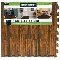 4-Pack Venture Products Best Step Interlocking Faux Wood Floor Mats