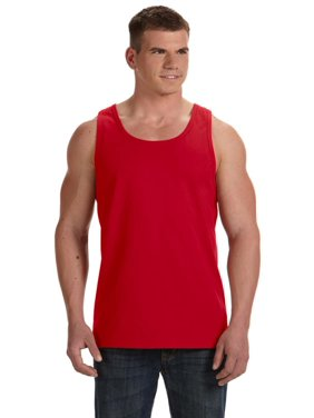 Branded Fruit of the Loom Adult 5 oz HD Cotton Tank Top - TRUE RED - 2XL (Instant Saving 5% & more)