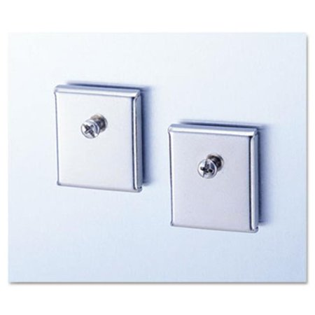 Cubicle Accessory Mounting Magnets  Silver  Set of 2 (Cubicle Accessory Mounting Magnets)