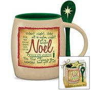 Noel Written Reflections Mug with Spoon Miriam Hahn Design