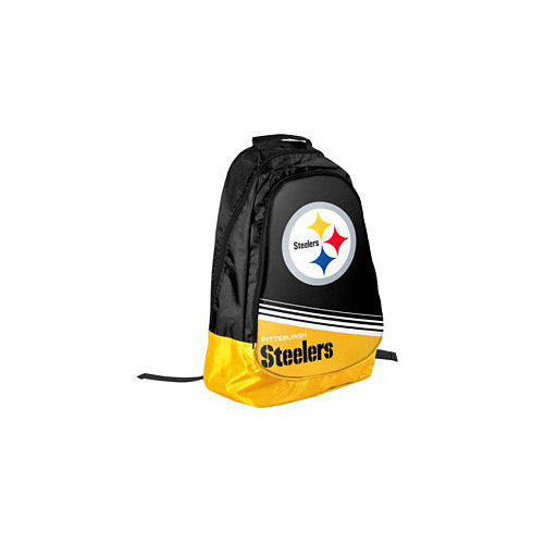 Pittsburgh Steelers Official NFL 20 inch x 12 inch x 4 inch Stripe Core Backpack by Forever ...