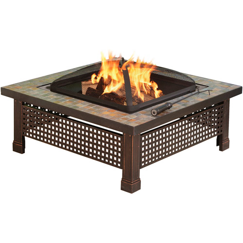 "Pleasant Hearth 34"" Bradford Square Firepit by GHP Group, Inc."