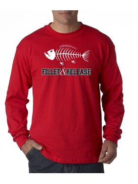 fdbe7c6d4c Product Image 036 - Unisex Long-Sleeve T-Shirt Fillet & Release Fishing  Fish Bones Skeleton
