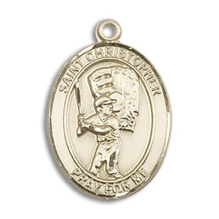 - St. Christopher / Baseball Medal in 14 KT Gold Filled