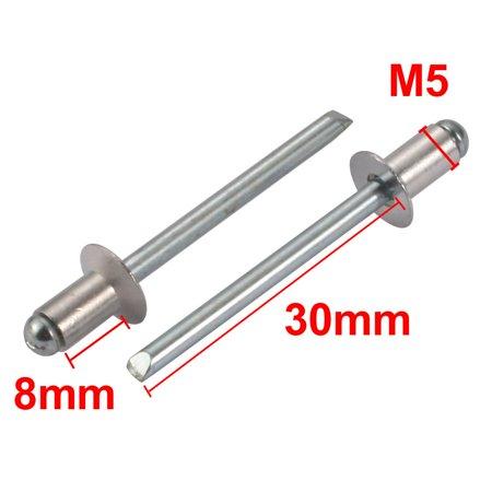 M5x8mm Tête fraisée aluminium fin ouvert Rivets aveugles 100pcs - image 1 de 3