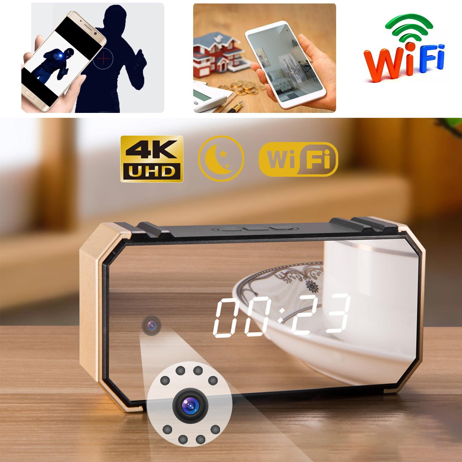 Wireless 4k Hd Security Camera Mirror Alarm Clock Tsv