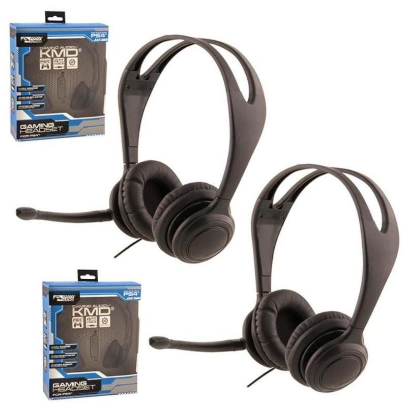 2-Pack Live Chat Headset With microphone For Sony PS4 Black Small