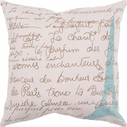 Art of Knot Almada Blue Cotton/Linen Decorative Pillow with Poly Fill