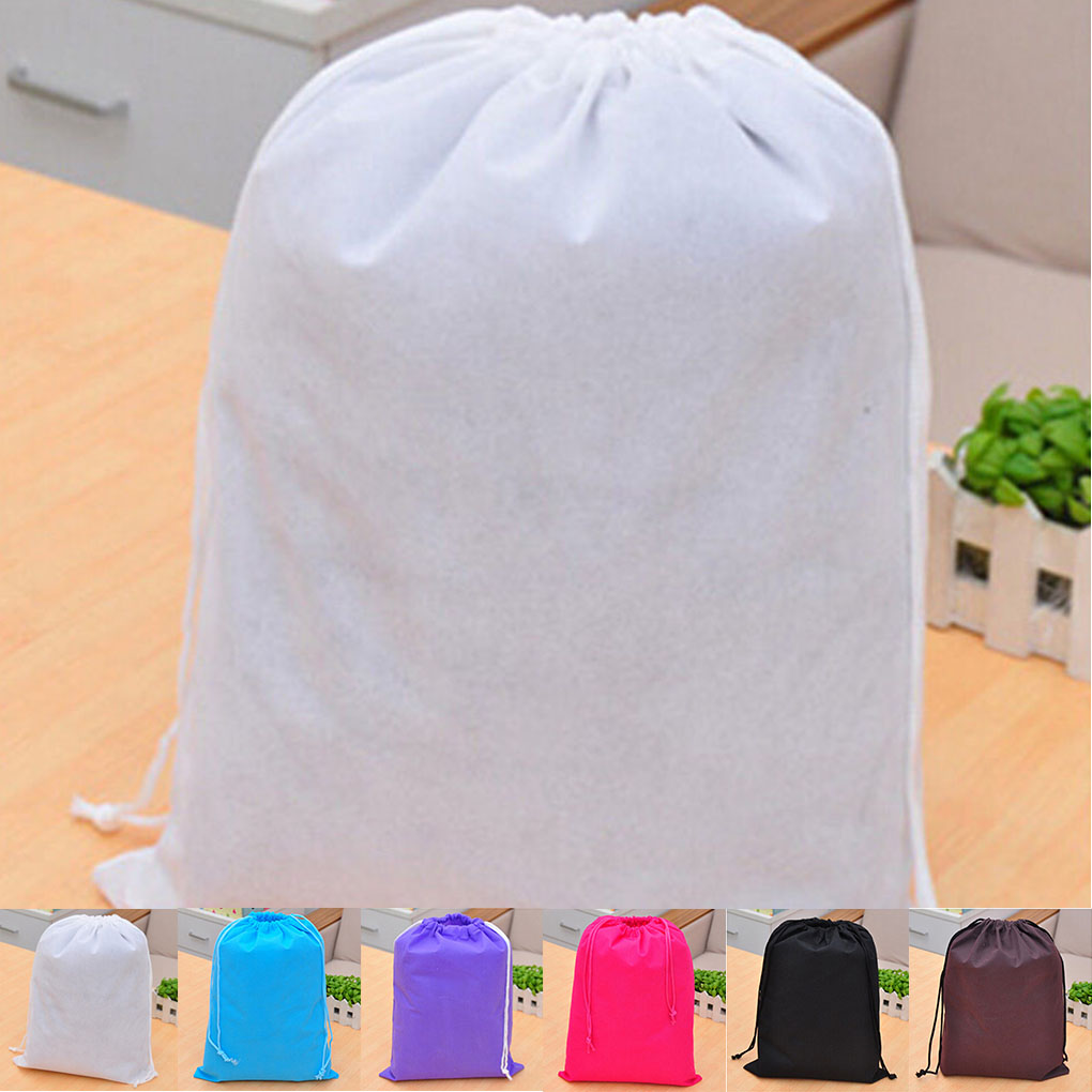New Portable Shoe Bag Travel Sport Storage Pouch Drawstring Dust Bag Non-woven