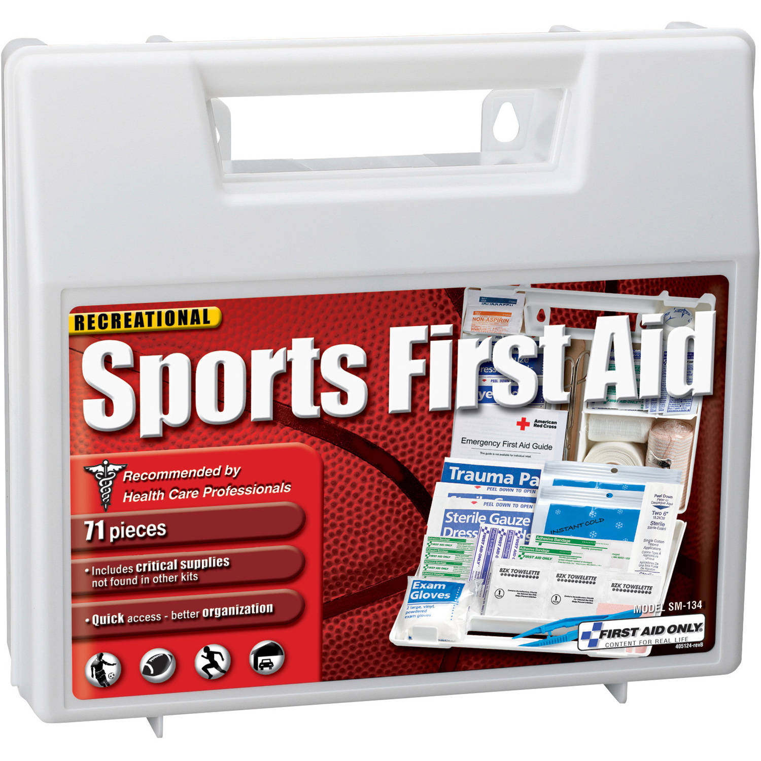 First Aid Only Sports First Aid Kit, 71 pc
