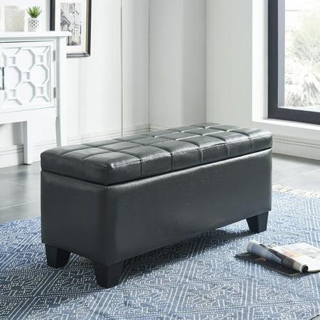 Phenomenal Faux Leather Storage Ottoman Beatyapartments Chair Design Images Beatyapartmentscom
