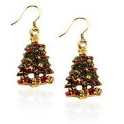 Whimsical Gifts 2199G-ER Christmas Tree Charm Earrings in Gold