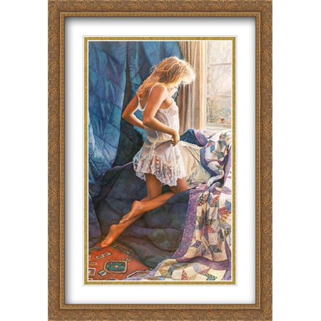 A Winter's Day 2x Matted 28x40 Large Gold Ornate Framed Art Print by Steve Hanks Steve Hanks Bookends