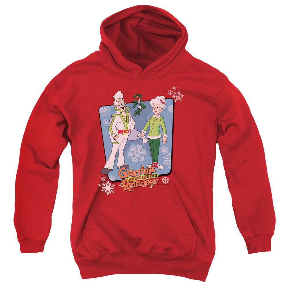 Grandma Got Run Over By A Reindeer Super Stars Big Boys Pullover Hoodie