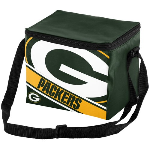 NFL Forever Collectibles Big Logo Stripe 6 Pack Cooler, Green Bay Packers