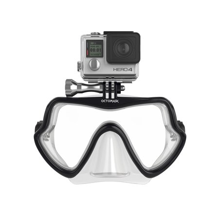 octomask gopro hero4 and hero3+ frameless dive mask for scuba and snorkeling -