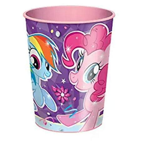 12X My Little Pony Plastic 16 Ounce Reusable Keepsake Favor Cup - My Little Pony Cup