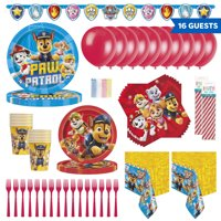 PAW Patrol Birthday Party Tableware, Decoration and Balloon Kit for 16 Guests