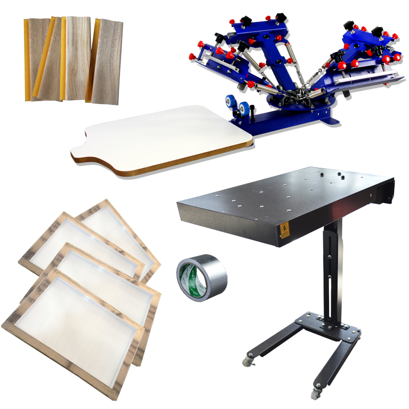 Techtongda Manual 4 Color Screen Printing Press Kit Flash...