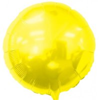 Balloons and Weights 2468 18 Inch Round Foil Mylar Balloons Yellow 50 pc