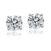 Sterling Silver 5mm Round Stud Earrings with Swarovski Elements