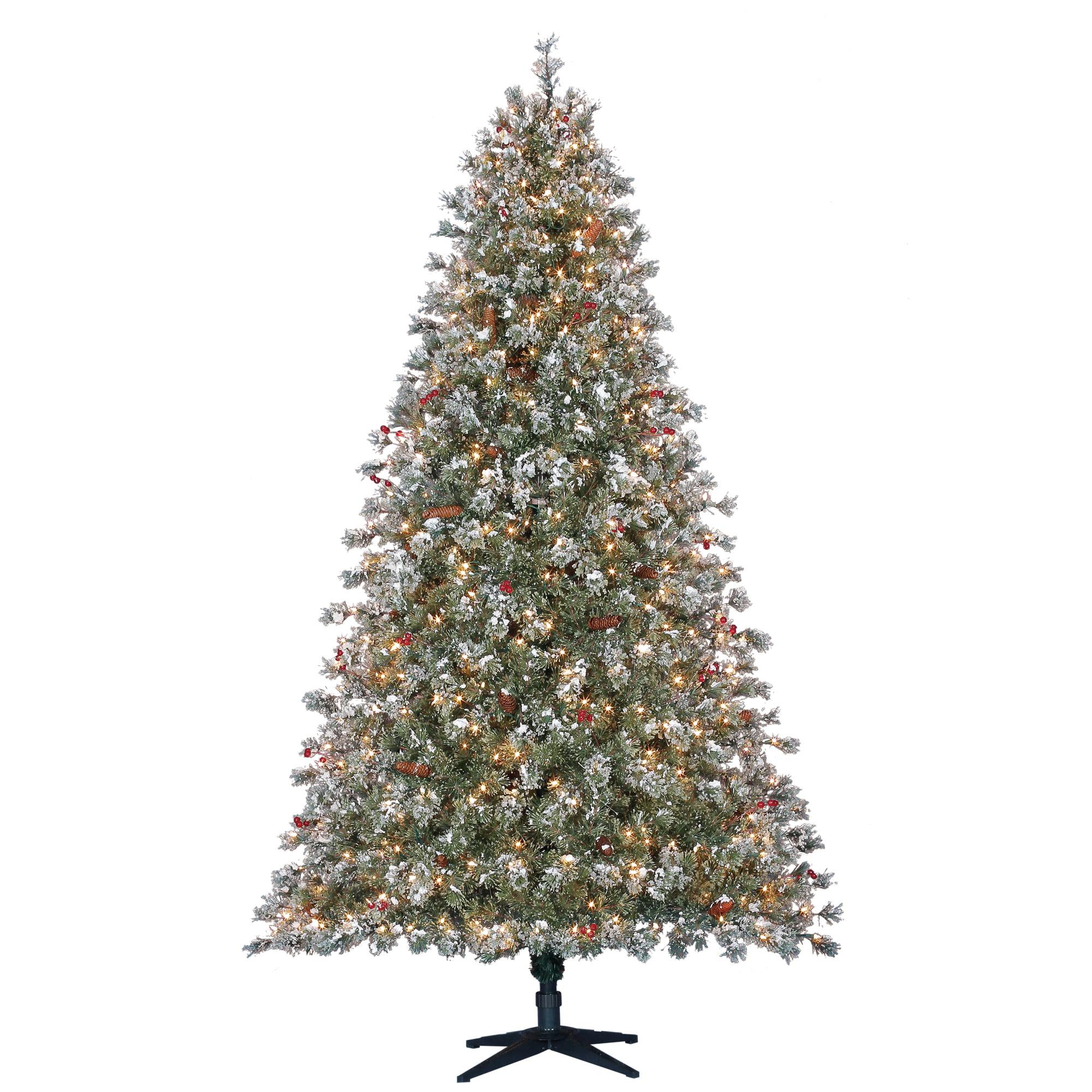 Holiday Time Prelit Fir Christmas Tree 7.5 ft, Green ...