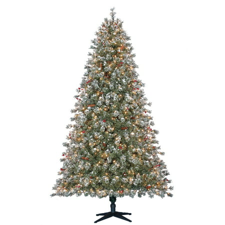 Holiday Time 7.5ft Pre-Lit Covington Fir Quick Set Artificial Christmas Tree  with 500 Clear Lights - Green - Walmart.com - Holiday Time 7.5ft Pre-Lit Covington Fir Quick Set Artificial