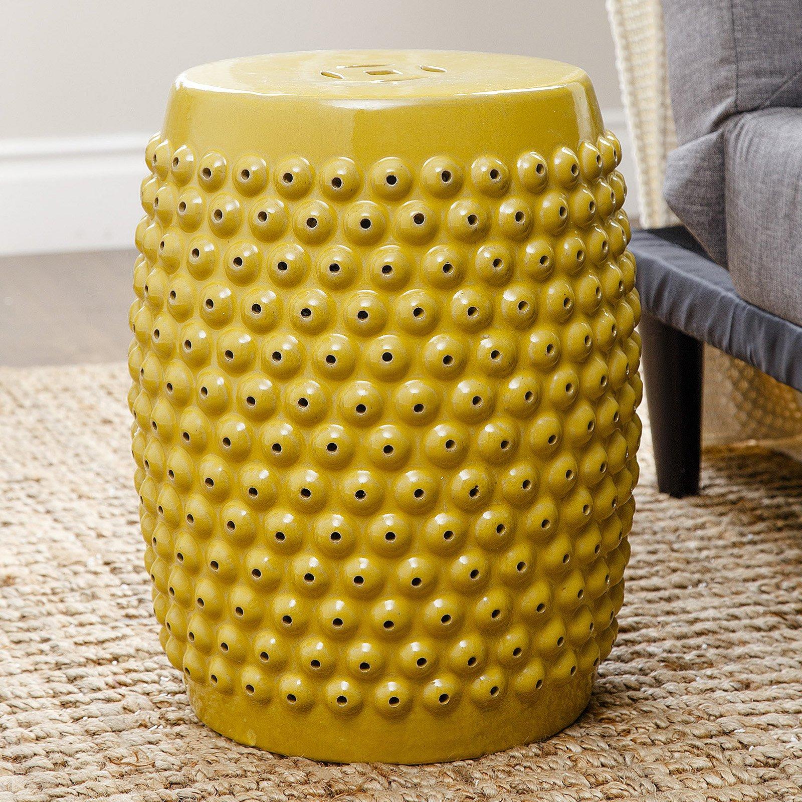 Abbyson Sarra Pierced Ceramic Garden Stool
