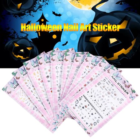 Halloween Transfer Nail Art Sticker Polish Decal Manicure Decoration Accessory, Halloween Nail Art Sticker, Halloween Nail Sticker - Cute Halloween Manicure