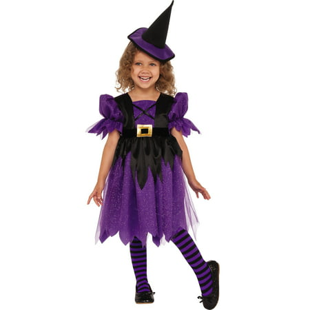 Sweet Witch Girl Child Purple Little Sorceress Halloween Costume - Halloween The Little Girl
