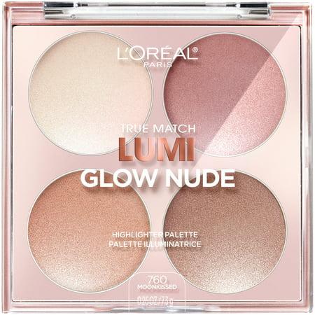 L'Oreal Paris True Match Lumi Glow Nude highlighter palette, Moonkissed, 0.26 oz.