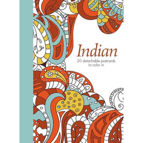 Indian: 20 Detachable Postcards to Color in