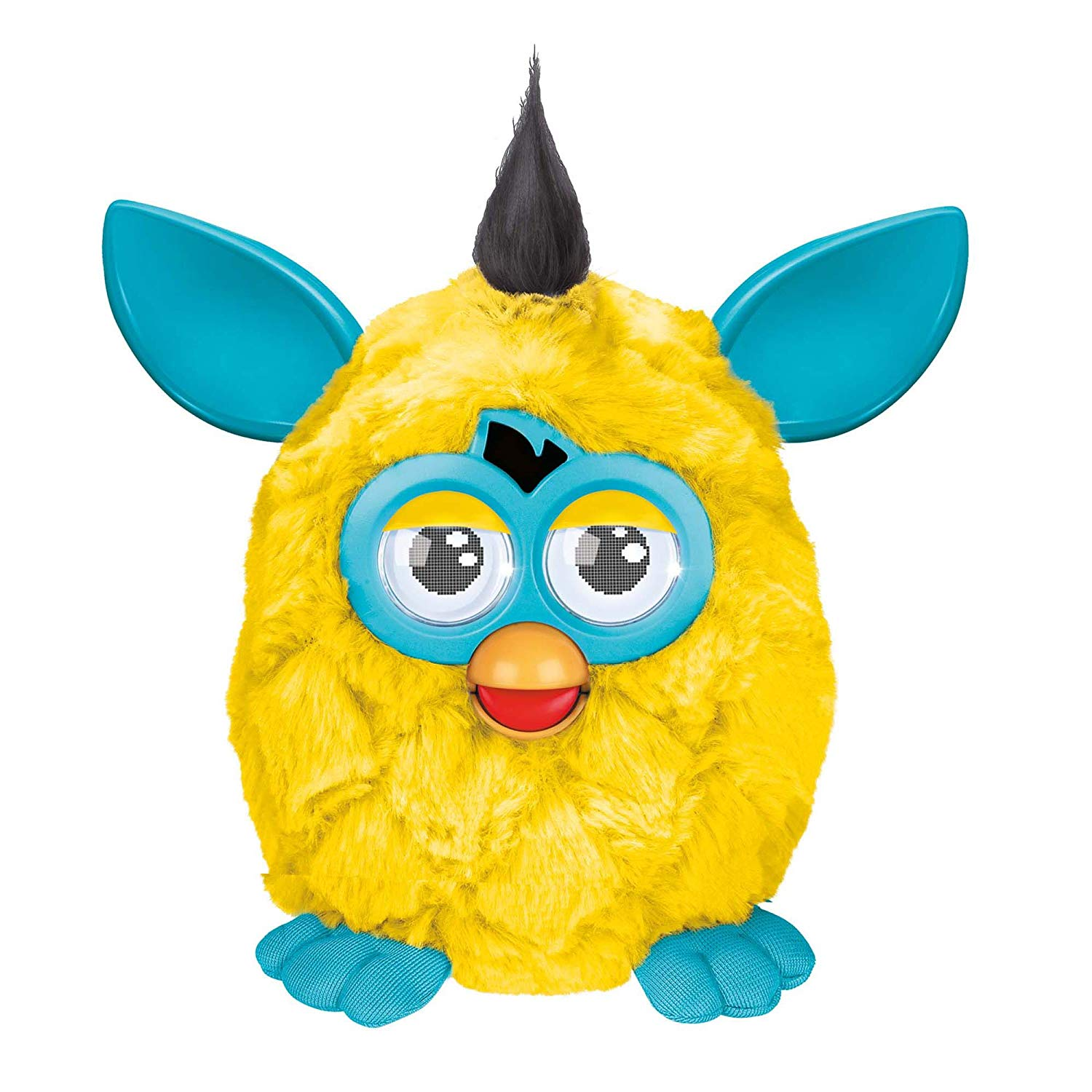 Furby Plush, Yellow Teal by