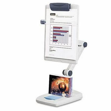 Fellowes Flex Arm Desktop Copyholder, Plastic, Platinum/Graphite