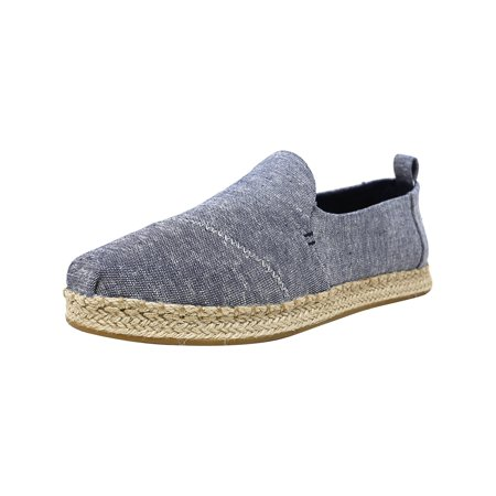 Toms Women's Deconstructed Alpargata Rope Chambray Navy Ankle-High Fabric Slip-On Shoes - 8.5M](Desert Wedges Toms)