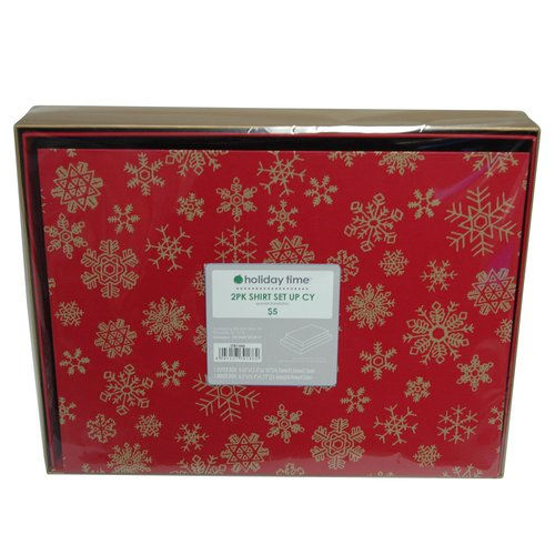 Poinsettia Shirt Box, 2 Pack