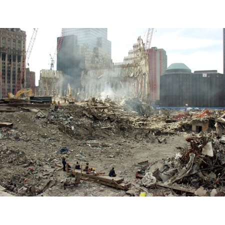 Pile Of Debris From The South Tower Of World Trade Center A Month After The Terrorist Attack Oct 10