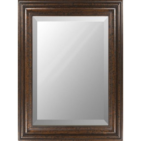 36 X 48 Wooden Framed Beveled Rectangular Wall Mirror