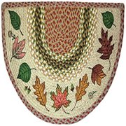 EarthRugs 32-024 Autumn Leaves Slice Rug, 18-Inch by 29-Inch, Olive/Burgundy/Grey