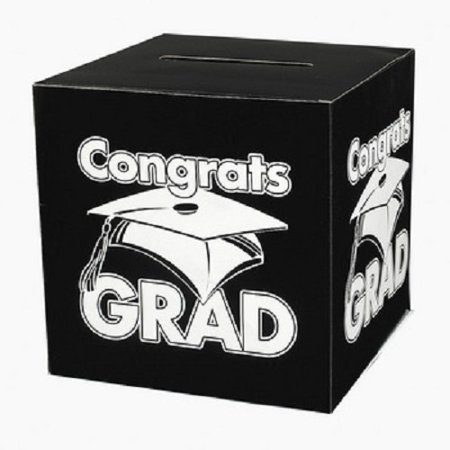 Black Congrats Grad Money Card Box Graduation Party](Graduation Party Card Box)