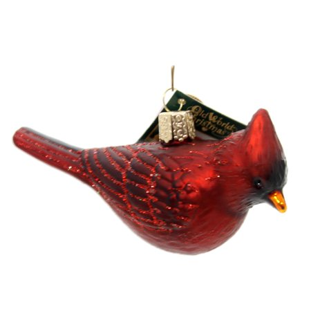 Old World Christmas NORTHERN CARDINAL Glass Happiness Joy Symbol -