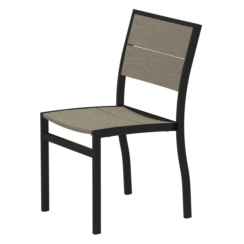 Trex Outdoor Furniture Recycled Plastic Surf City Side Chair