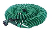 50 Foot Coiling Garden Hose with Hose Nozzle by TVTime Directt