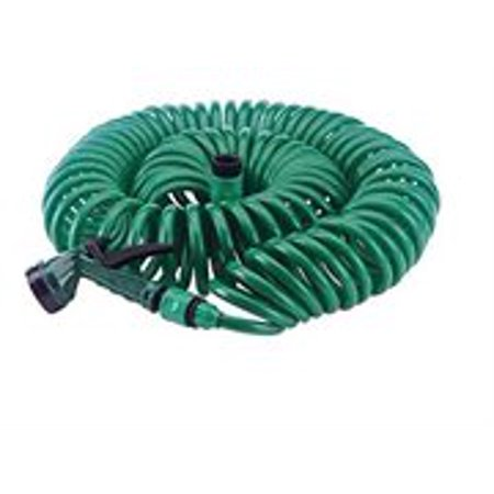 Green Coilhose (50 Foot Coiling Garden Hose with Hose Nozzle)