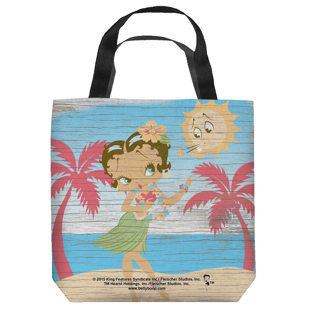 Betty Boop 1930's Animated Character Icon Cartoon Hula Boop Tote Bag